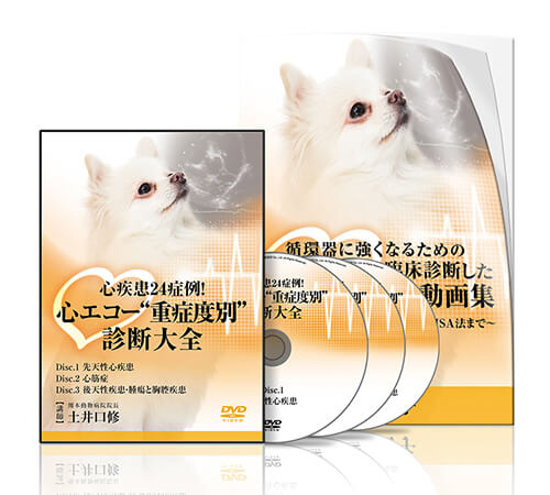 """心疾患24症例!心エコー""""重症度別""""診断大全│医療情報研究所DVD"""